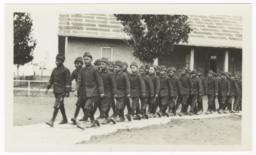 Native American Boys in Uniform, Walking in Pairs
