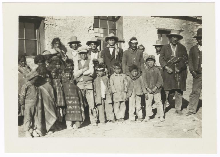 Group of American Indian Adults and Children