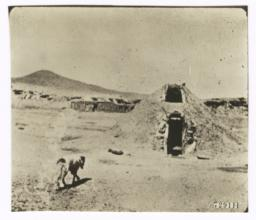 Landscape with Hogan in Foreground, Arizona