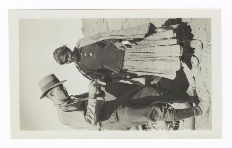 Mr. Stokely Binding Burned Fingers of Navajo Woman