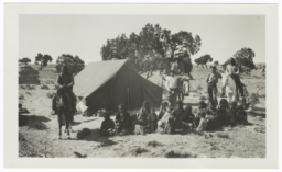 Mr. Stokely's Camp in the Black Mountains with a Group of Native Americans