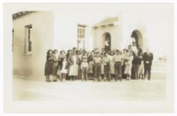 Attendants at Pima Indian Presbyterian Church, near Sacaton, Arizona