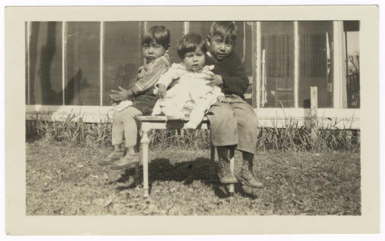 Children of Stewart Lewis: Victor, Floyd and Cecil