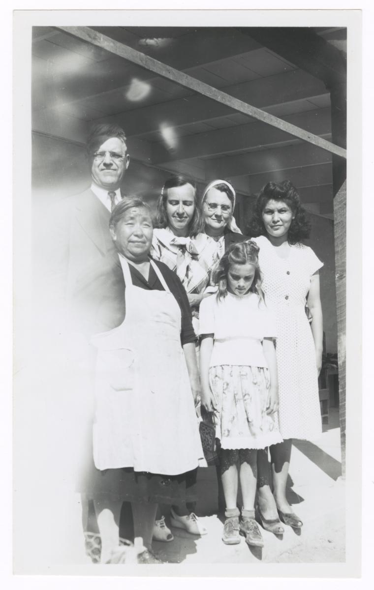 Group at a Hopi Home, near Parker, Arizona