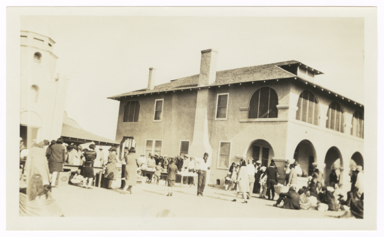 Missions Compound Community Event, Image Features the Parsonage Prominently