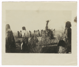 Group of People in a Field Watching What May Be a Ritual Dance, Yuma, Arizona