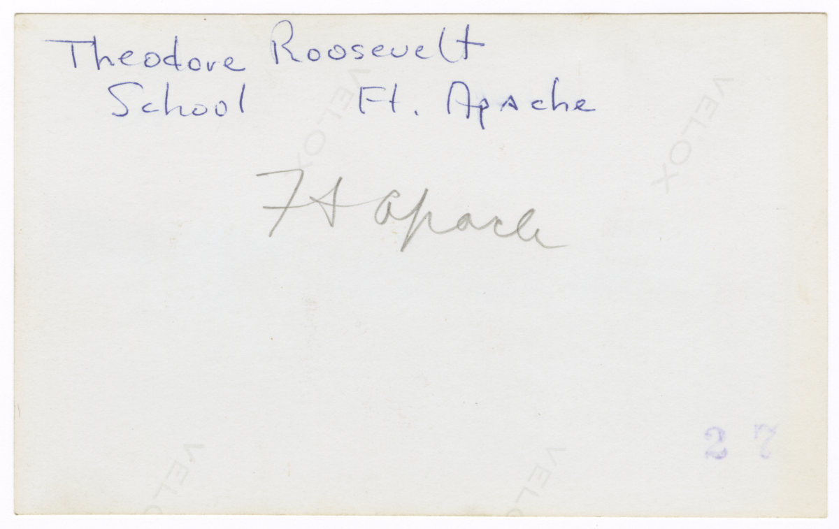 Theodore Roosevelt School, Fort Apache, Arizona