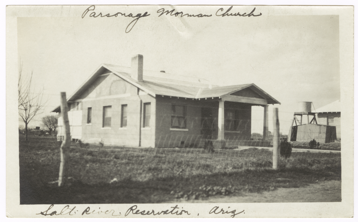 Parsonage, Mormon Church, Salt River Indian Reservation, Arizona