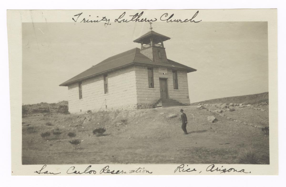 Trinity Luthern Church Building near Rice, Arizona