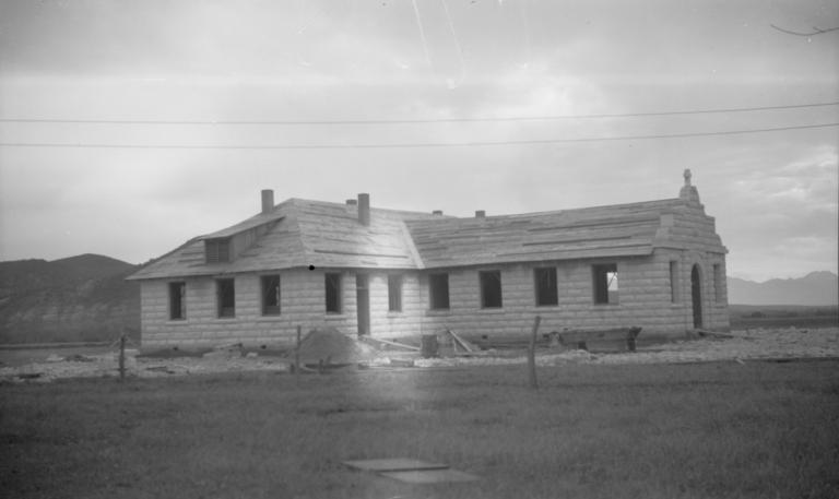 Roman Catholic Church Building, Under Construction, Side View, Rice, Arizona