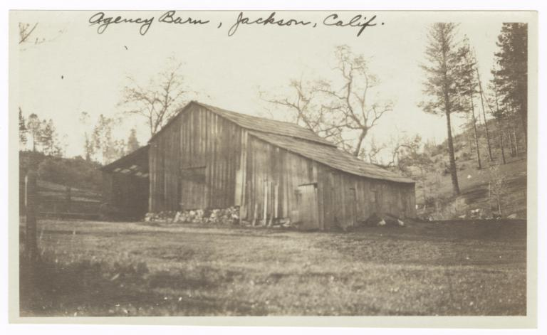 Barn of the Digger Indian Agency, Jackson, California