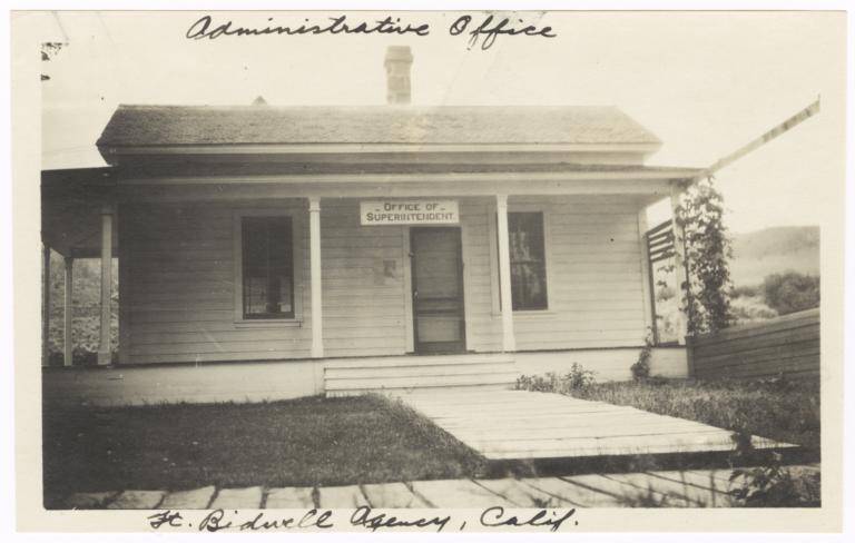 Administrative Office, Fort Bidwell Agency, California