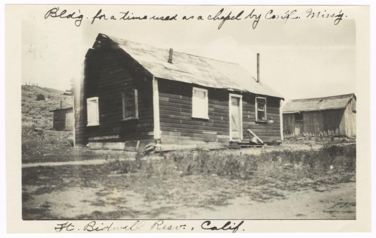 Building Used as a Chapel by the Congregational Missionary, Fort Bidwell Reservation, California