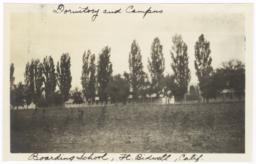 Dormitory and Campus of Boarding School, Seen from a Distance, Fort Bidwell, California