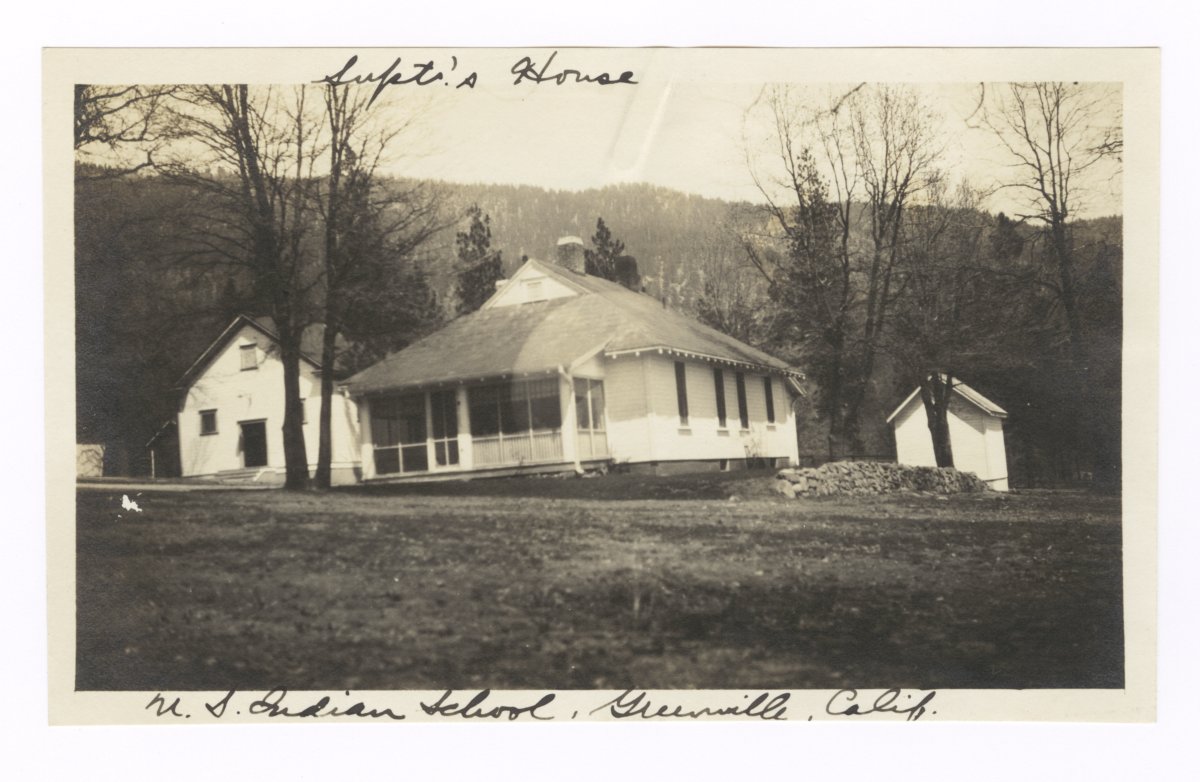 Superintendent's House of the U.S. Indian School, Greenville, California