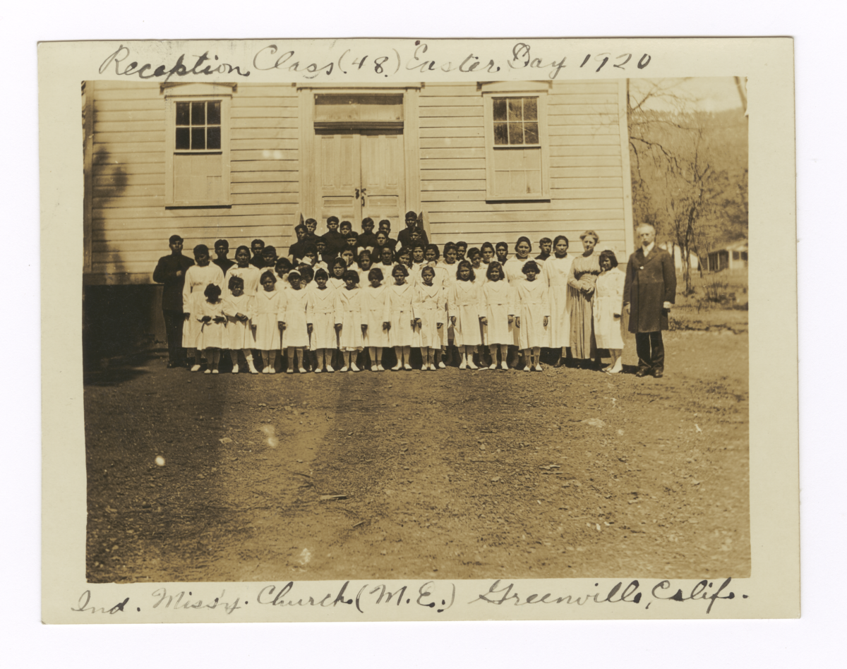 Reception Class Easter Day, Methodist Episcopal Indian Missionary Church, Greenville, California