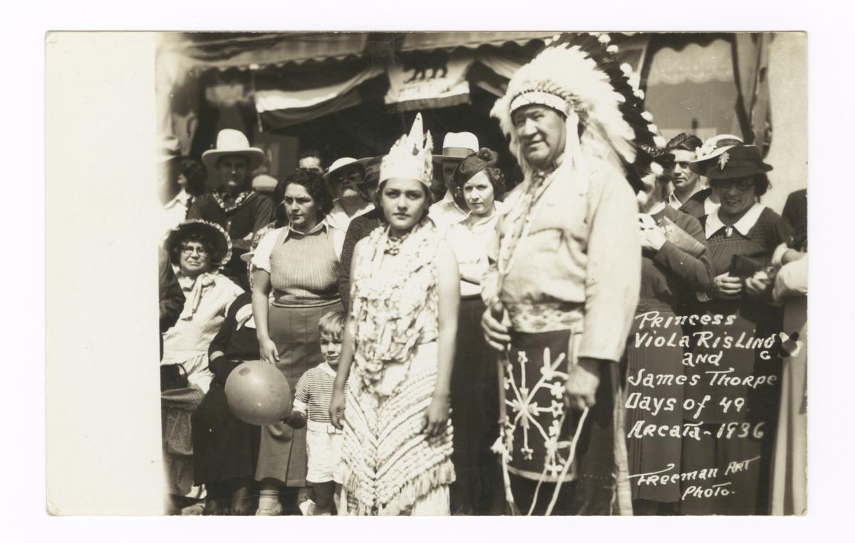 Princess Viola Risling and James Thorpe, Arcata, California