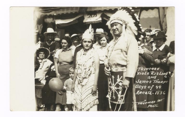 Princess Viola Risling and James Thorpe, Arcata, California