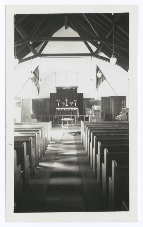 Inside of St. Paul's School Chapel, Blood Indian Reserve, Alberta