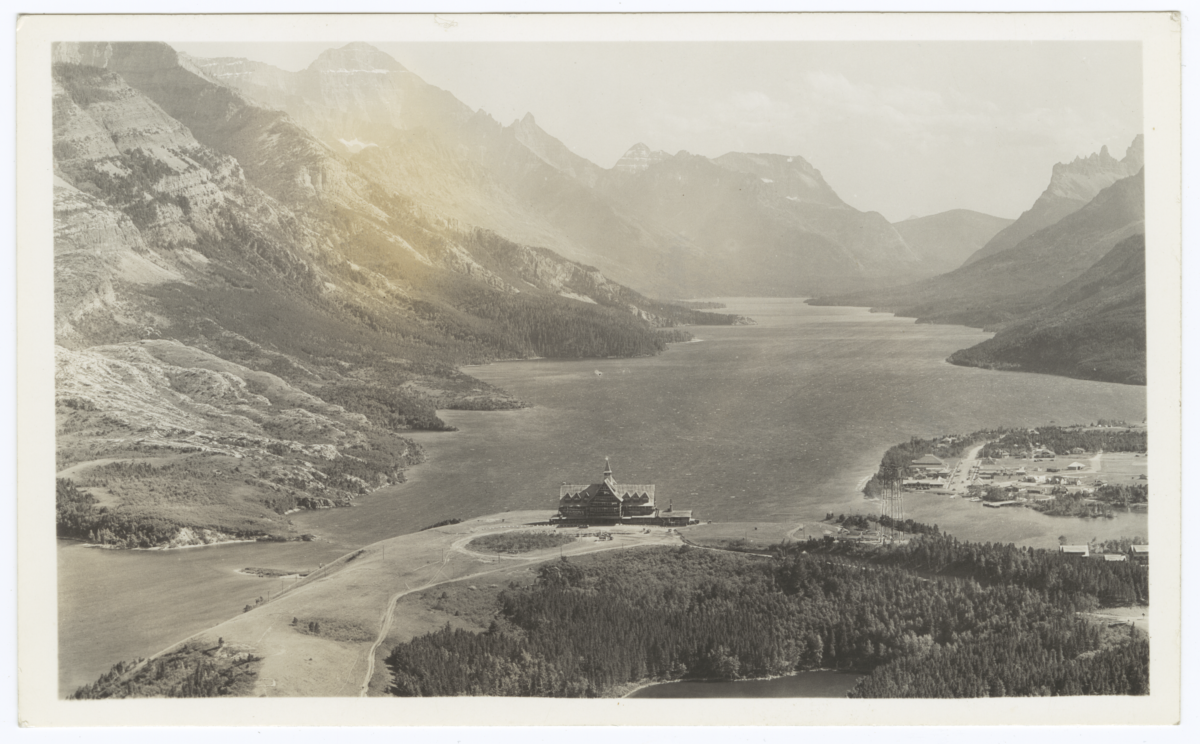 Panaramic View of Prince of Wales Hotel, Waterton National Park