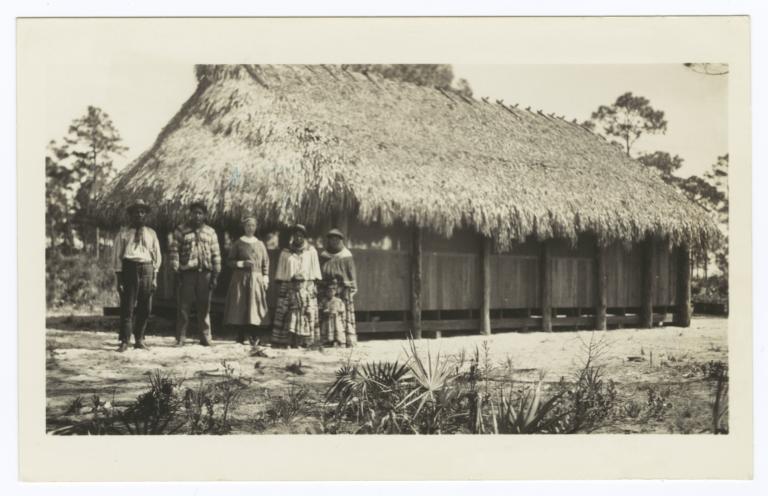 Grass Roof Dwelling  near Immokalee, Florida