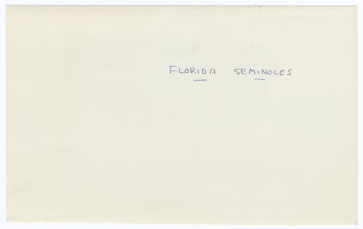 U.S. Interior Department, Indian Affairs Building, Florida Seminole Agency