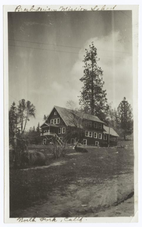 Dormitory of the Presbyterian Mission School, North Fork, California