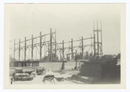 Building Under Construction, Uprights and Auditorium Space, Riverside, California