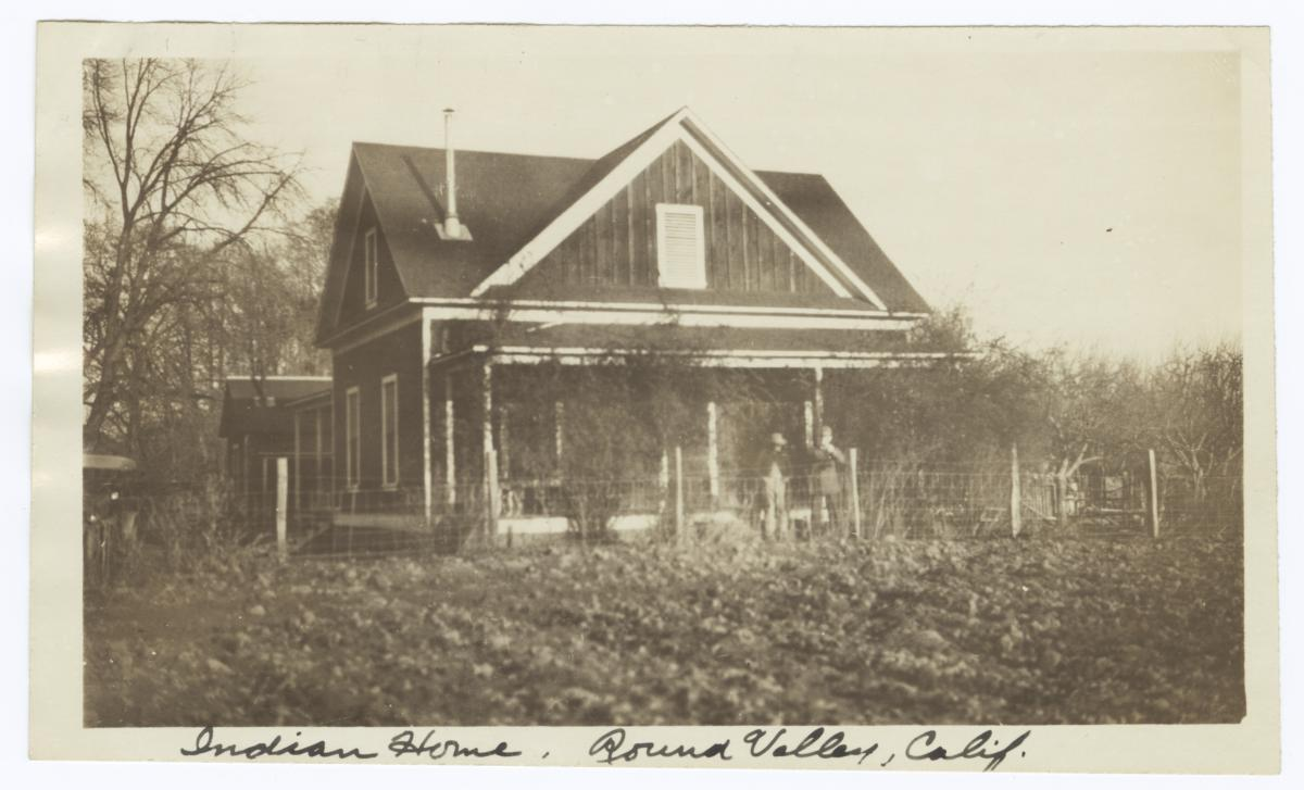 Indian Home, Round Valley, California