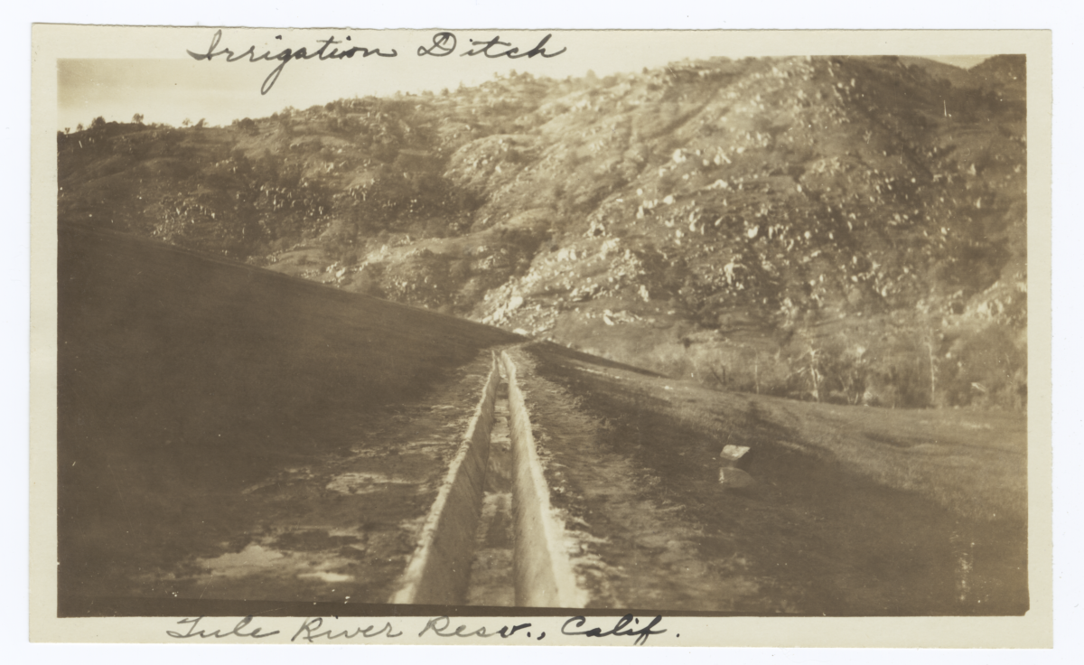 Irrigation Ditch at Tule River Reservation, California