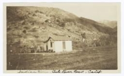 Indian Home on the Tule River Reservation, California