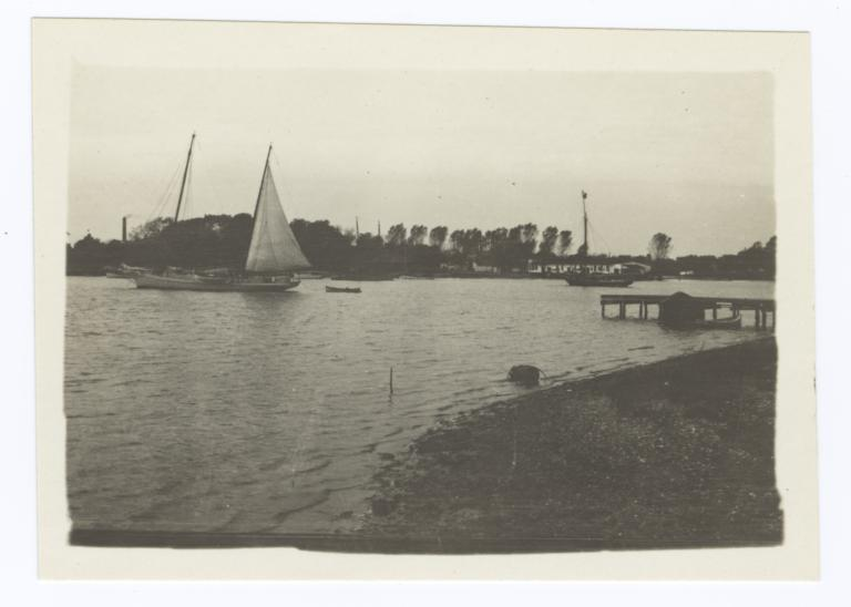Bay View with Boat and Dock