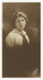 Formal Portrait of a Young Women, Bust Shot, Facing Right, 3/4 Turned