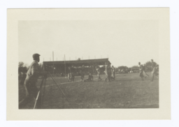 Football Game Being Photographed from the Edge of Field, Haskell Institute, Lawrence, Kansas