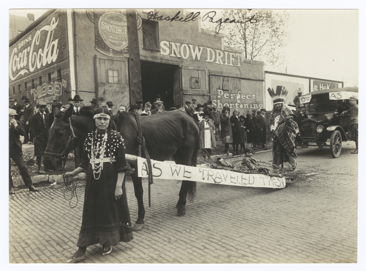 Haskell Pageant Featuring Scenes from Native American Life Then and Now, Lawrence, Kansas