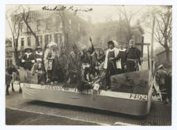"""Haskell Pageant Featuring a Float Titled, """"1620 - Indians of the Past -1492,"""" Lawrence, Kansas"""