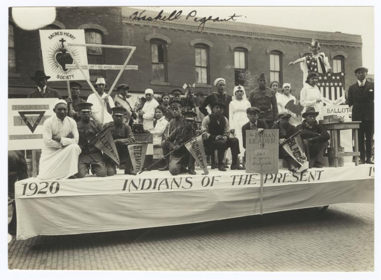 Haskell Institute Pageant Float, Lawrence, Kansas