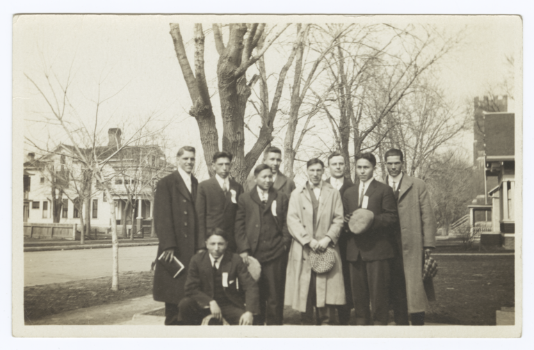 Group of  Men Standing Near Trees