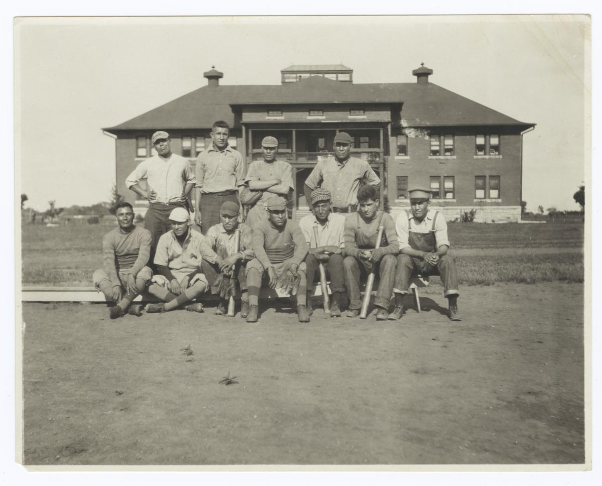 Group Portrait of a Baseball Team, Haskell Institute, Lawrence, Kansas