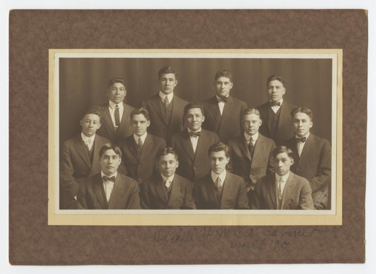 Haskell YM Cabinet Group Portrait for 1914-15, Lawrence, Kansas