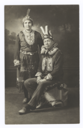 Reverend and Mrs. John Silas Posing in Native Costume