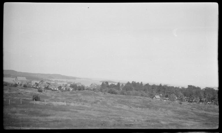 Landscape with Buildings and Trees in the Distance, Maine