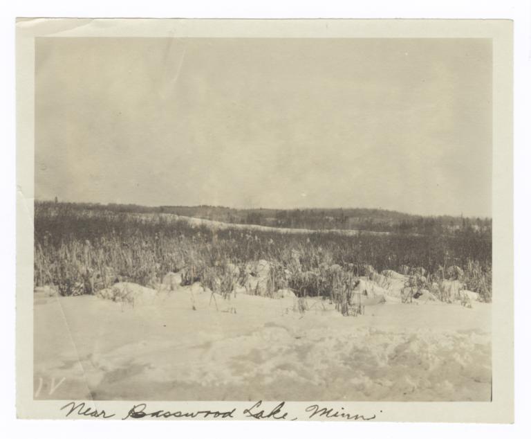 Landscape with Snow, near Basswood Lake, Minnesota