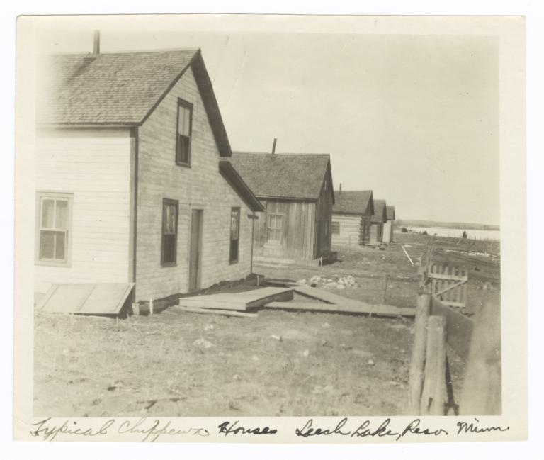 Ojibwa Houses near a Lake, Leech Lake Reservation, Onigum, Minnesota