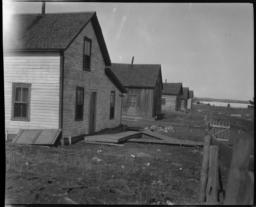Ojibwa Houses near a Lake, Leech Lake Reservation, Onigum, Minnesota