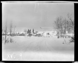 Landscape with Village, Nett Lake, Minnesota
