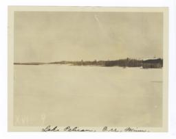 Winter View of Lake Pelican, Orr, Minnesota