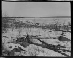 Lake Superior Near Grand Portage, Minnesota in the Winter