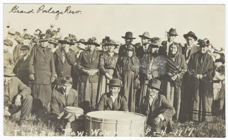 Indian Pow-Wow at the Grand Portage Reservation, Minnesota, July 4, 1917