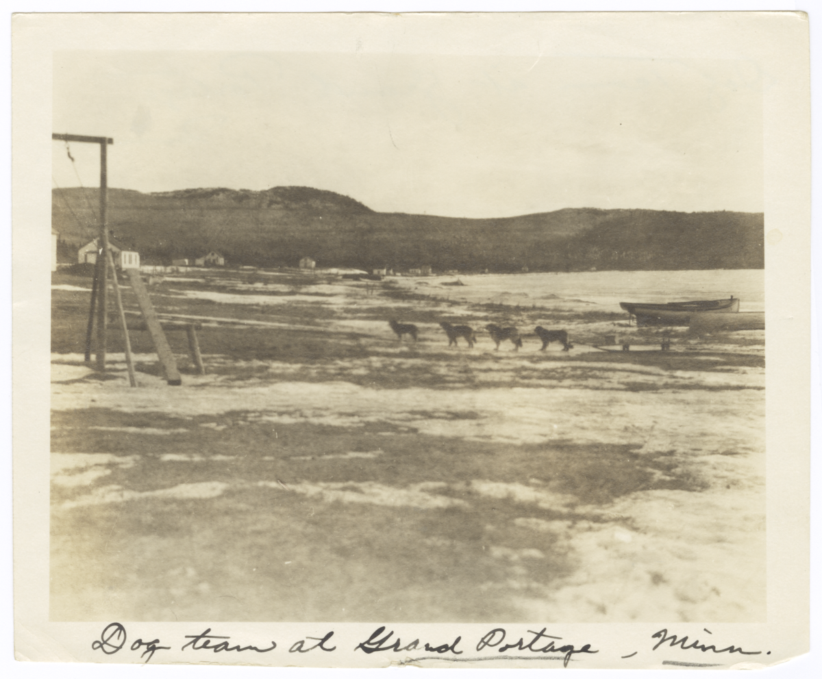 Dogsledding Team at Grand Portage, Minnesota